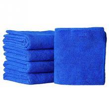 5pcs Auto Care 25cmx25cm Microfiber Car Cleaning Cloths Car Care Microfibre Wax Polishing Detailing Towels(China (Mainland))
