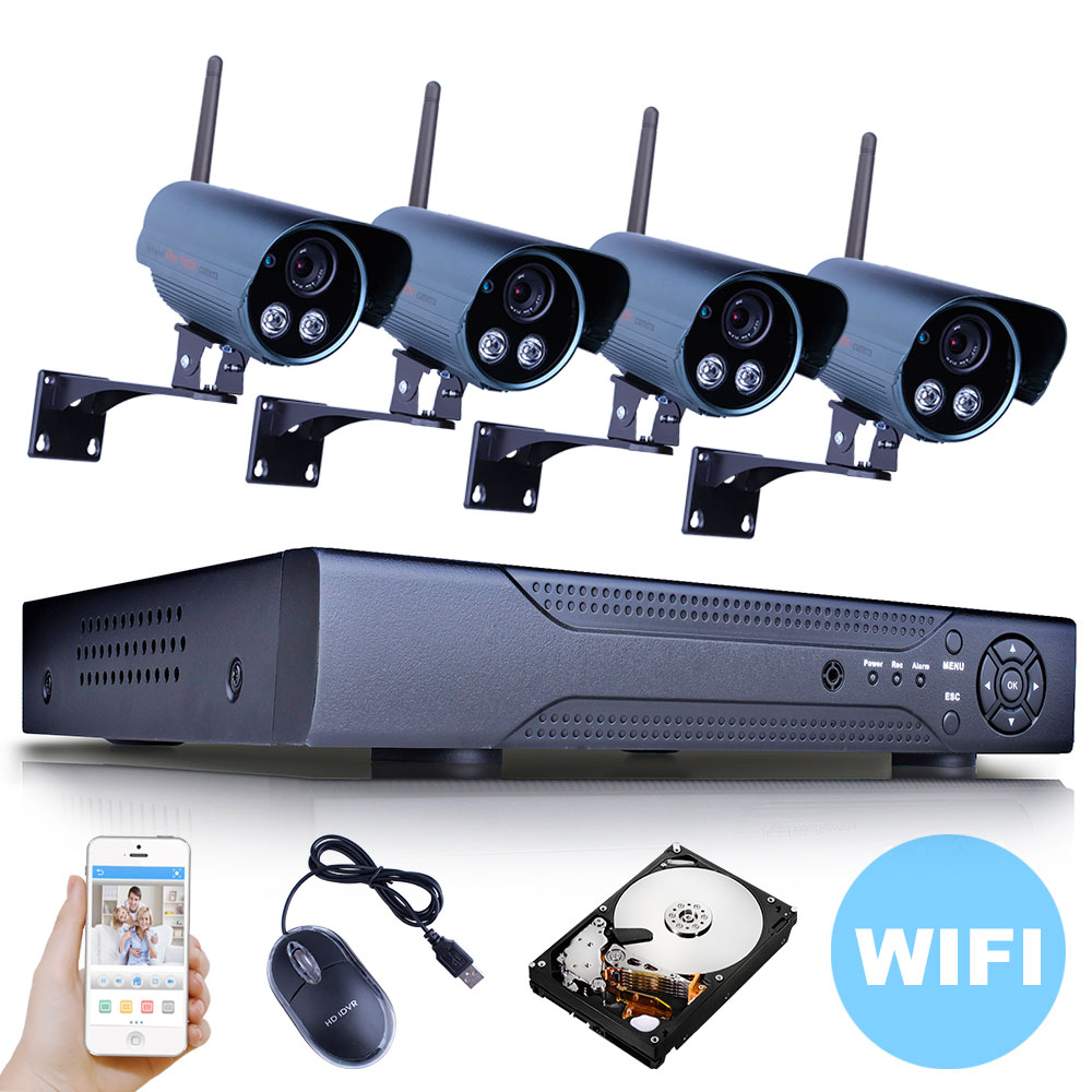 Гаджет  HD 1080P Megapixel Wireless IP Camera Wifi 8CH NVR 2TB HDD CCTV System ONVIF H.264 Home Video Surveillance Security Camera Kit None Безопасность и защита