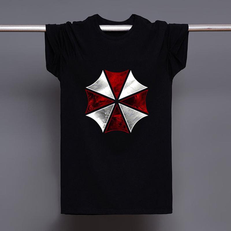 Corp Biohazard Resident Evil Umbrella Shirts Men Anime Assassin Creed T-Shirt Mens Game Tee Shirt Short Sleeve Clothing Male(China (Mainland))