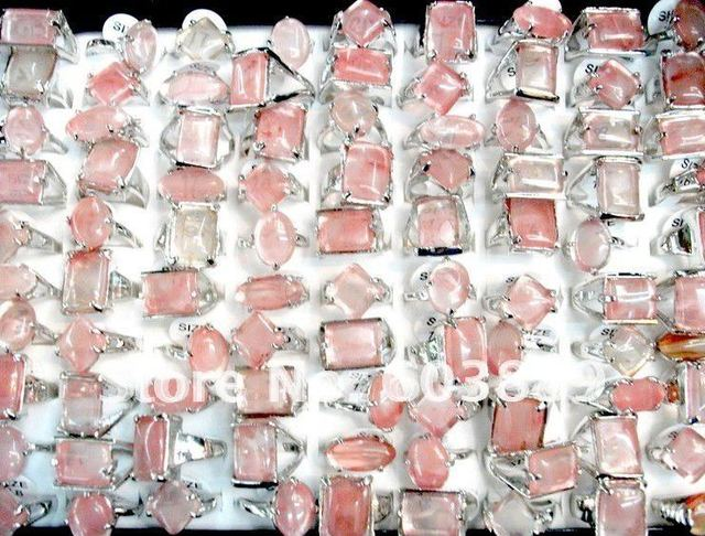 Lots 100PCS perfect Fashion jewelry Gift Wedding ring watermelon red natural stone party jewelry Rings