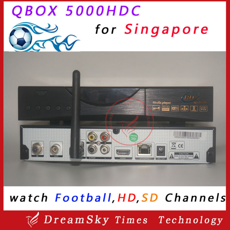 Latest Qbox 5000HDC Singapore Starhub HD Cable TV box newer than 4000HDC,Black Box 700HDCwith wifi adapter Support HD Channels<br><br>Aliexpress