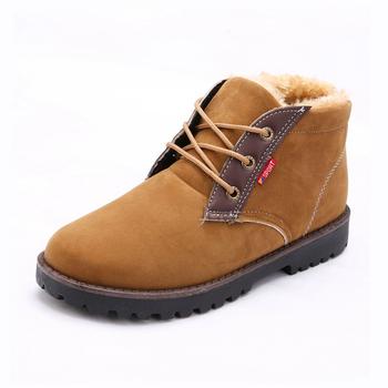 2015 новые люди свободного покроя сапоги мода хлопок марка ботильоны обувь для мужчин теплые удобные мужские туфли-botas Большой размер ZX0013