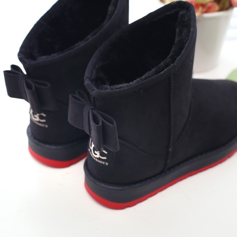 Luxury Women Winter Snow Boots Round Toe Flat Boots Suede Ankle Boots  Alex