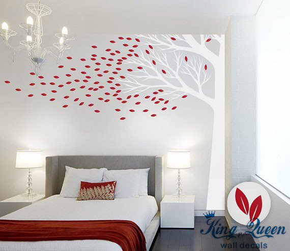 Corner Tree Wall Decal Vinyl Wall Art Large Wall Sticker For Bedroom.  Corner Tree Wall Decal Vinyl Wall Art Large Wall Sticker ...