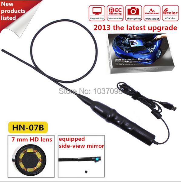 Handheld 7mm VGA SMOS 1/12 Inspection Endoscope Waterproof Camera w/ 0.8M Cable 6 LED Light(China (Mainland))