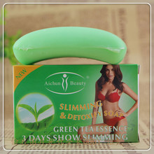 Green tea body slimming fat slimming soap handmade soap to lose weight free shipping