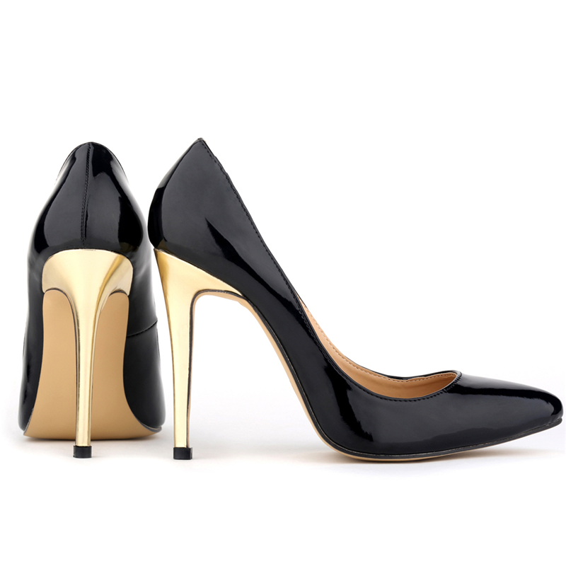 Sexy women gold heel pumps Brand Design Party Shoes high heels 9 Colors Size 35-42 Fashion ladies Pumps Shoes loslandifen 302-1(China (Mainland))