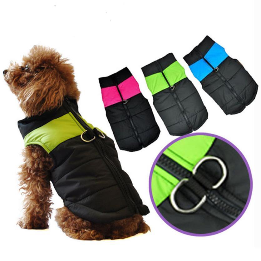 hangat pakaian anjing peliharaan anjing kecil tahan air mantel jaket ...
