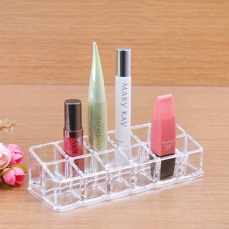 2014 Free Shipping New Makeup Clear Acrylic Cosmetic Holder Organizer Brush Storage Box(China (Mainland))