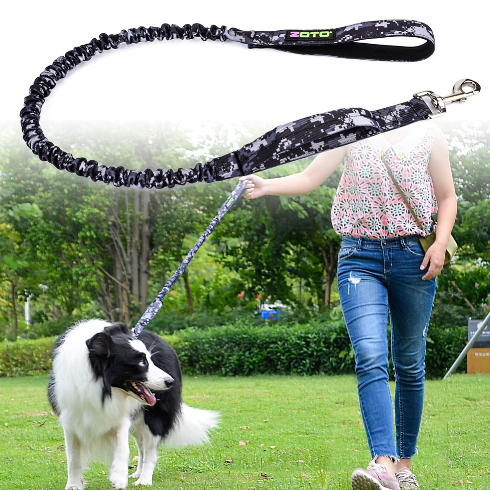 Nylon Retractable Dog Leash Tactical Dog Leash Pet Training Lead Strap Quick Release Pet Safety Walking Running Leash Leads Rope(China (Mainland))