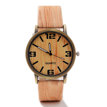 Classical Bamboo Wooden Watch New Arrival Women Wristwatches High Quality Vintage Style Men Dress Watch PU Leather Quartz Watch(China (Mainland))