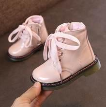 חדש סתיו ילדים שלג מגפיים לילדים חורף קרסול חורף ילדה מגפי יוניסקס עור מפוצל נעליים לילדים נעלי שלג(China)