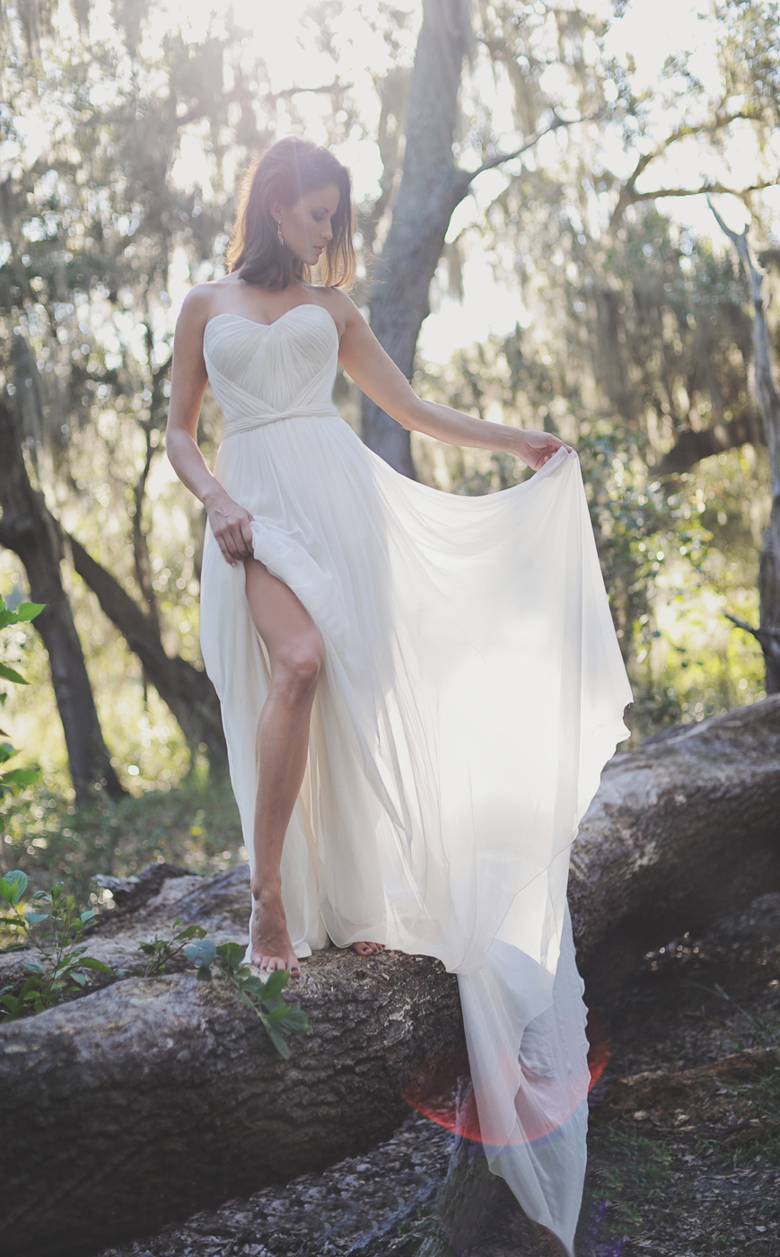 Beach Wedding Dresses Size 16 : Chiffon beach wedding dresses bridal gown size