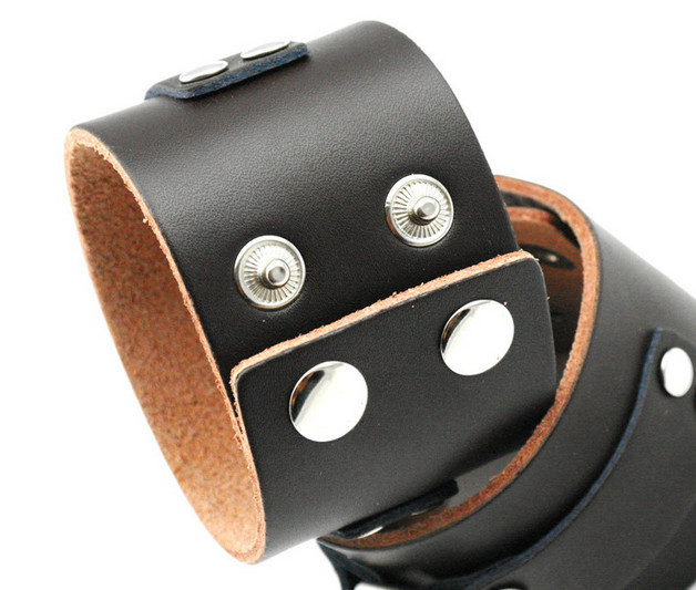 100 Genuine Cowhide Wide Cow Leather male Bracelet Men Punk Bangle Cowboy Wristband Surf Hip Hop