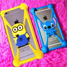 Universal Anti-Shock Silicone Phone Bag Case For INNOS D9 Cartoon Cover for All Mobile Phone 3.7 ~ 6.0 inch