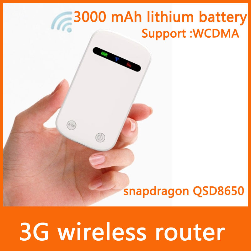 Free shipping 2014 latest WCDMA 3 g wireless router straight inserted sim card portable WiFi router 2100MHz MiFi Router(China (Mainland))