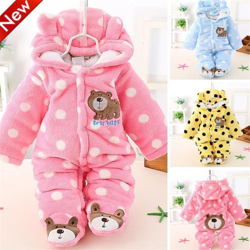 Winter Baby Boy Clothes Cute Newborn Baby Romper Cotton