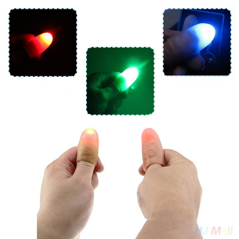 2017 Hot Halloween Light Up Thumbs Fingers Toy Appearing Light Close Party Decoration(China (Mainland))