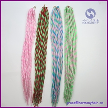 """HARMONY INVENTORY 1pack/lot 22"""" synthetic dreadlock extension in bright color/twist dreadlock hair bulk(China (Mainland))"""