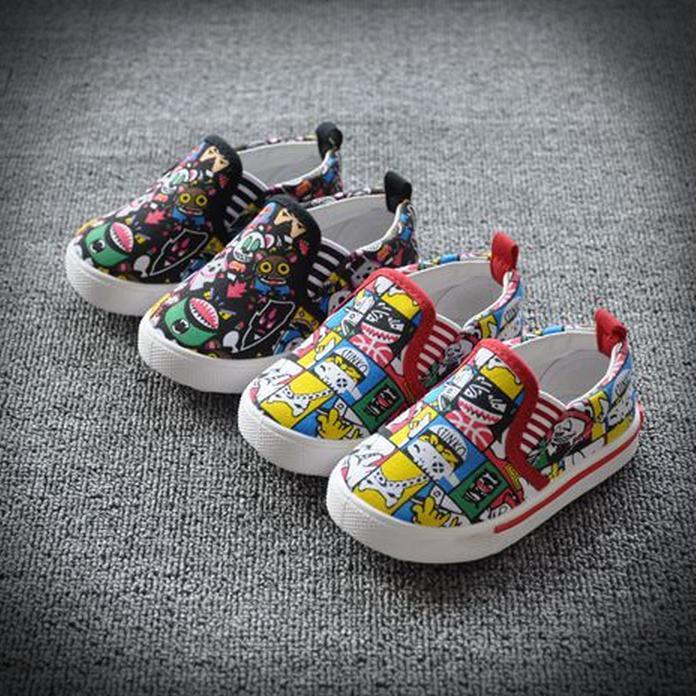 Insole 13 - 16.8 см маленькие монстры детская обувь дети кроссовки для девочек-младенцев спортивная обувь мальчики парусиновые туфли