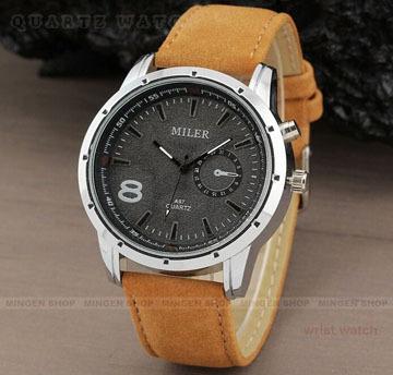 Здесь можно купить  Fashion Military Pilot Aviator Army Style Watch Dial Scrub Leather Band Quartz Watch Sport Watches Men 100PCS/lot  Часы