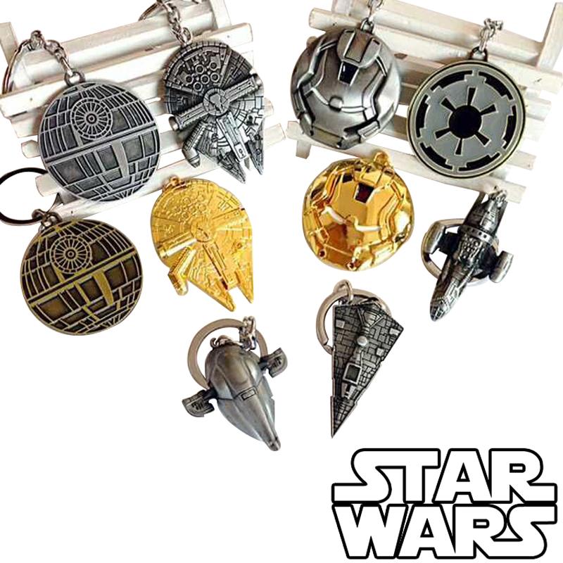 2015 New Star Wars Keychain toys Darth Vader Anakin Stormtrooper Zinc Alloy dark warrior Clone Trooper