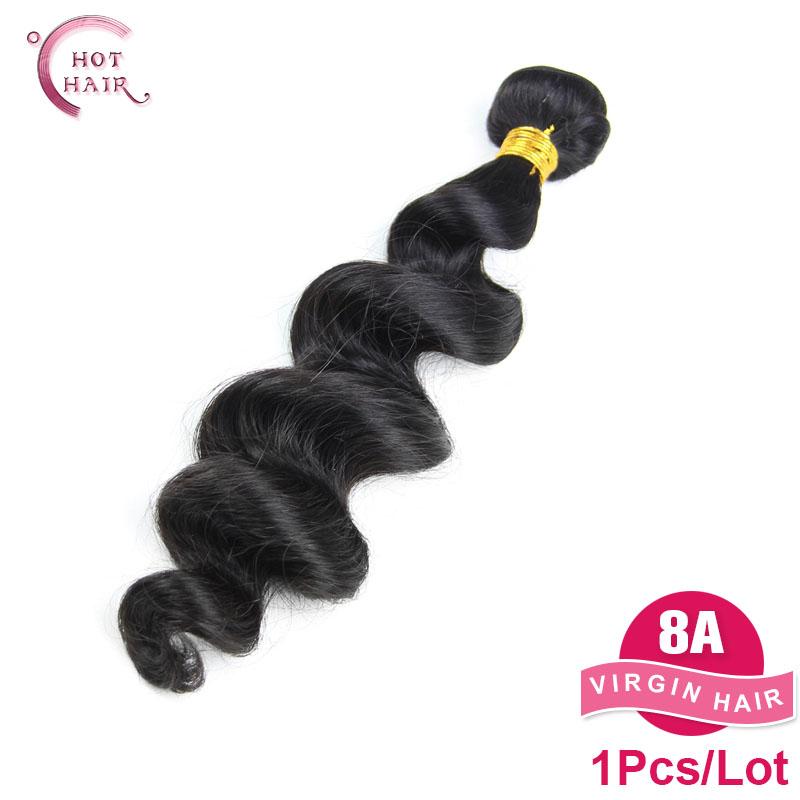 Top Quality Malaysian Virgin Hair Bundles 1 pc/Lot Malaysian Loose Wave Unprocessed Human Hair Weaves(China (Mainland))