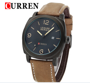 Top Sale! Men Watches Brand Luxury Military Wrist Genuine Leather Watch Waterproof Relogio Masculino C8158-2 - Fashion Boutique-No.1 store