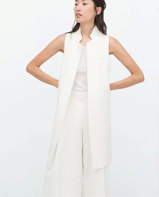 2015 women zr fashion white black stand collar double. Black Bedroom Furniture Sets. Home Design Ideas