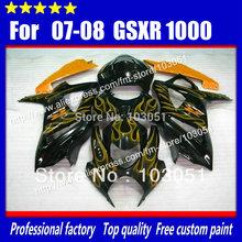 7 gifts custom SUZUKI GSXR 1000 2007 fairings 2008 GSX-R1000 fairing K7 K8 07 08 orange flame glossy black sy1 - Xinfeng plastic products Co., Ltd store