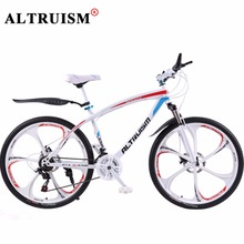 Buy ALTRUISM Q1 Mountain Bike 21 Speed Bisiklet Steel Road Bike 26 Inch Double Disc Brake Velo One Wheel Male Bicicleta Bicycles for $241.88 in AliExpress store