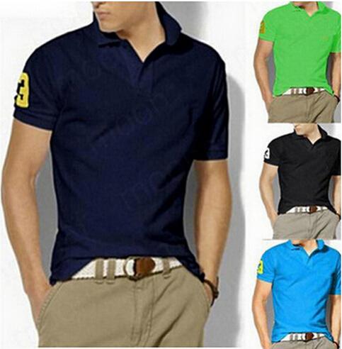 Free shipping Plus 6XL 2015 horse brand cotton Polo shirt men POLO shirt short sleeve casual style sport POLO shirt men shirts(China (Mainland))