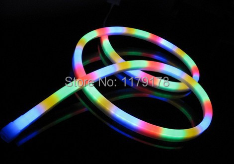 Hot Sale 20m/lot Waterproof RGB LED Neon Flex light Strip Rope 220V Outdoor Landscape light(China (Mainland))