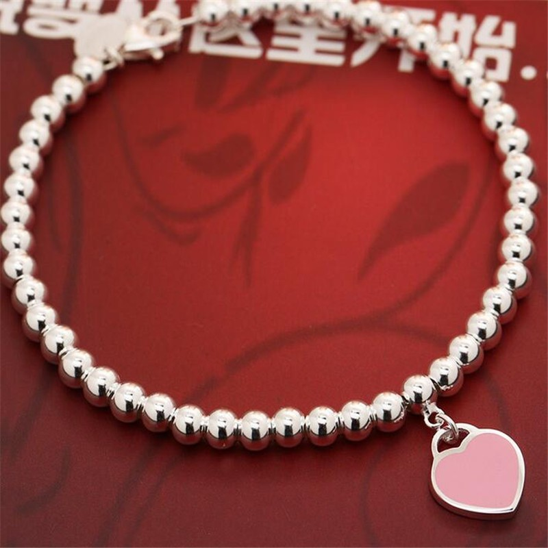 925 Sterling Silver Bracelet Ball Chain Genuine Solid 925 Sterling Silver Fashion Women High Quality Brand Ataullah BSW427