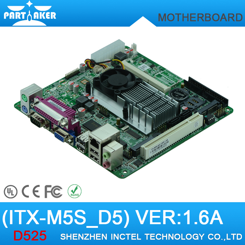 Atom D525 DC12V mini itx motherboards M5S_D5 POS DDR3 LVDS 5RS232 Wake on LAN PXE 8USB PCI slot best mini itx htpc industrial MB<br><br>Aliexpress