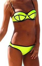 Free Shipping Triangle Bikini Set Push Up Spaghetti Straps 6 colour Swimsuit Bathing Suit Swimwear Summer Style 912(China (Mainland))