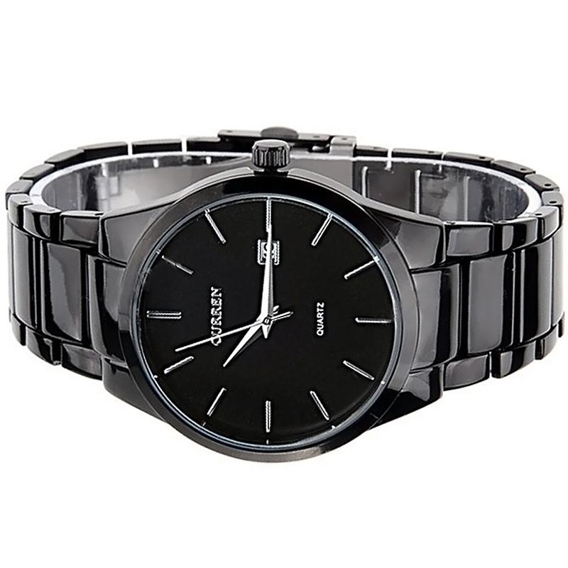 Original Curren titanium black men military sports watches quartz fashion watch full steel band watch free