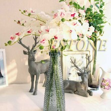 2015 New Artificial Silk Flower Butterfly Orchid Phalaenopsis Bouquet Home Garden Decor(China (Mainland))