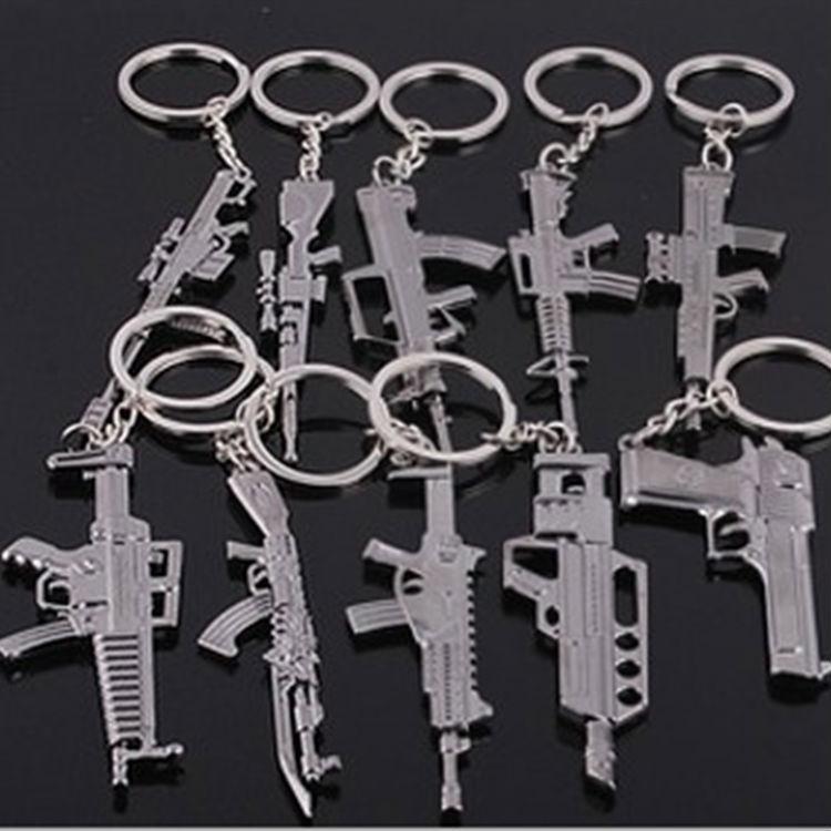Fashion Cross Fire Hand Gun Keychain Metal Revolver Modern Weapon Keys Ring Coolest CF Chain birthday Gift For Boys(China (Mainland))