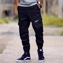 2018 Moda High Street Jeans Casual calças da Carga Calças de Camuflagem dos homens exército Calças de Design Da Marca Hip Hop Zíper No Tornozelo Calças Basculador homens(China)