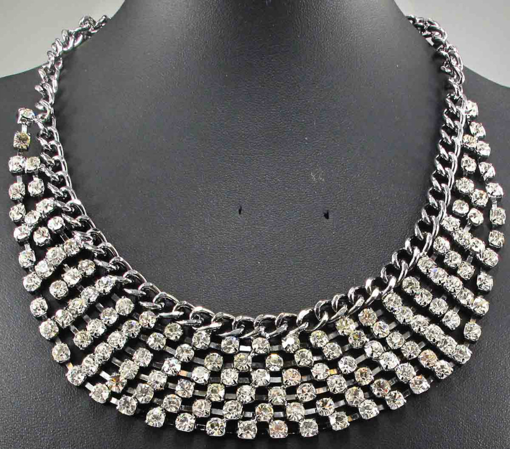 bling bling Newest Gorgeous Fashion Necklace Jewelry crystal Department Statement Necklace Women Choker Necklaces Pendants(China (Mainland))