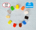 100pcs lot Assembling Toys Plastic Building Blocks 1 1 Small Particles Educational Learning Kids DIY Toy