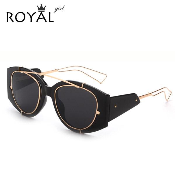 royal girl new fashion exaggeration women sunglasses brand designer thick frame men sun glasses clear frame