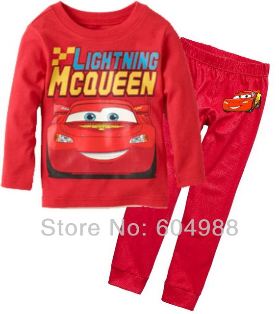 New Arrival Cartoon pajamas Baby sleepwear 6sets baby boys' homewear pajamas set long sleeve Tees+pants boys' nightwear