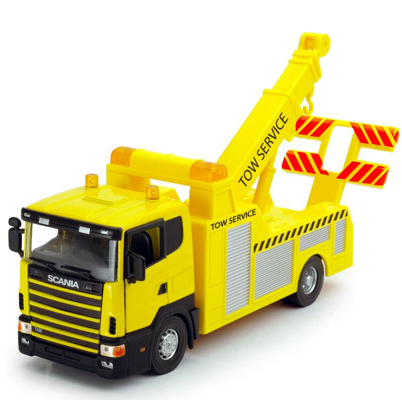 DIE CAST METAL 1/43 SCANIA TOW TRUCK WRECKER MODEL TOY REPLICA FREE SHIPPING(China (Mainland))