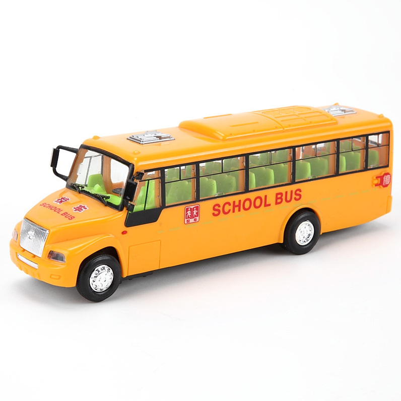 Hot Sale The American school bus school bus inertial bus can drive door toys Diecast bus cars toy Children's gift(China (Mainland))