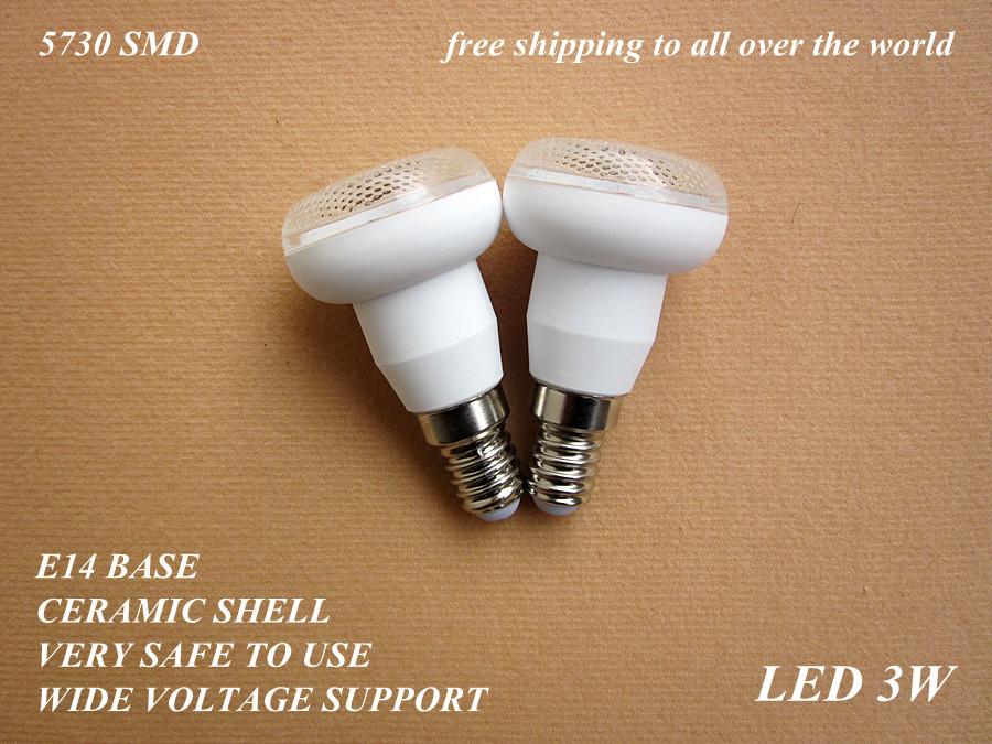 110V 220V 230V 240V E14 3W 4W ceramic LED bulb lamp light 5630 5730 SMD cold warm white R39 - baoyuebiao's store