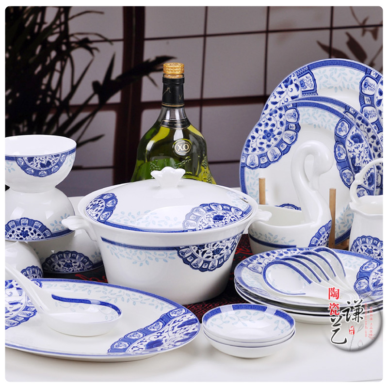 Jingdezhen ceramic fine quality 56 bone china dinnerware set(China (Mainland))