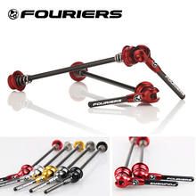 Buy Fouriers Bicycle Quick Release Titanium Axel Carbon Lever QR Skerwers MTB Road Bike for $45.49 in AliExpress store