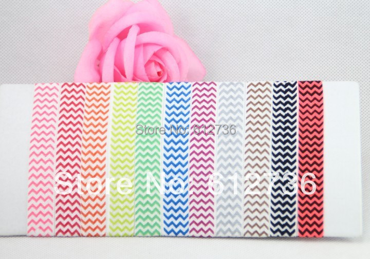 Sample Wholesales 40pcs Fold Over Elastic Chevron Hair Ties Baby Children Print Hair Accessory Free Shipping(China (Mainland))